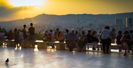 vistas de la ciudad Barcelona